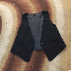 Black and gray blazer sleeveless vest never worn